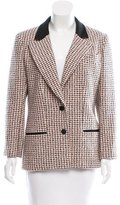 Chanel Peak-Lapel Tweed Blazer