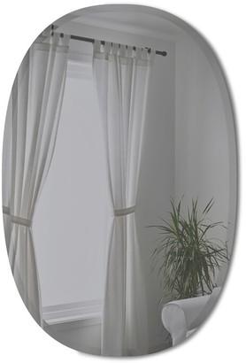"Umbra Hub Bevy Oval Mirror - Smoke, 24x36"""