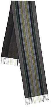 Paul Smith Men's College Stripe Wool Scarf
