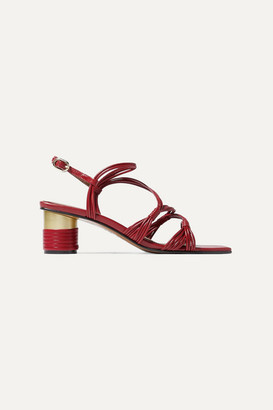 Souliers Martinez Cartagena Leather Sandals - Red