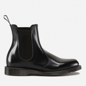 Dr. Martens Women's Flora Polished Smooth Leather Chelsea Boots