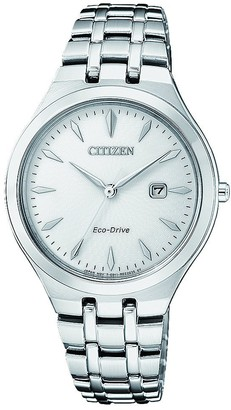 Citizen Women's Analogue Solar Powered Watch with Stainless Steel Strap EW2490-80B