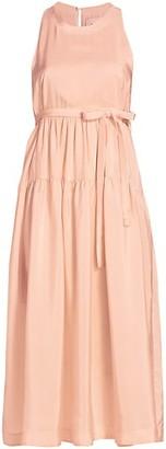 3.1 Phillip Lim Sleeveless Silk Belted Maxi Dress