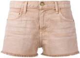 Current/Elliott frayed hem denim shorts - women - Cotton/Lyocell - 23