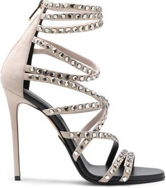 Balmain Crystal-embellished Suede Sandals