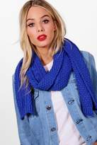 boohoo Ashley Chunky Cable Knit Scarf