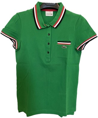 Lacoste Green Cotton Top for Women Vintage