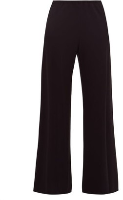 The Row Gala Stretch-crepe Trousers - Black