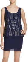 Laundry by Shelli Segal Bead-Embellished Dress