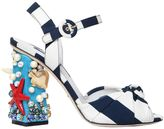 Dolce & Gabbana 105mm Keira Sea Embellished Cady Sandals