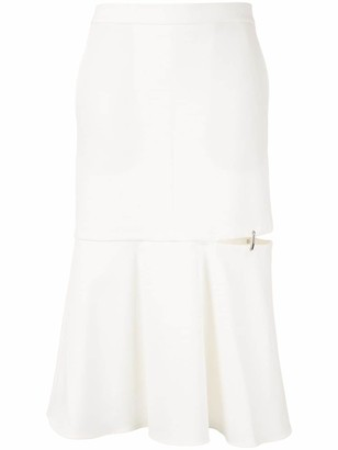 Tibi Anson slit detail skirt