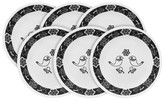 Corelle Vintage Charm Birds of A Feather 8.5in Appetizer Plate 6pk Black