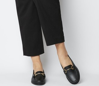 Office First Class Trim Loafers Black Leather Black Sole