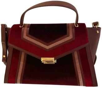 Michael Kors Whitney Burgundy Velvet Handbags