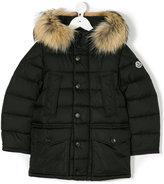 Moncler fur trimmed padded coat