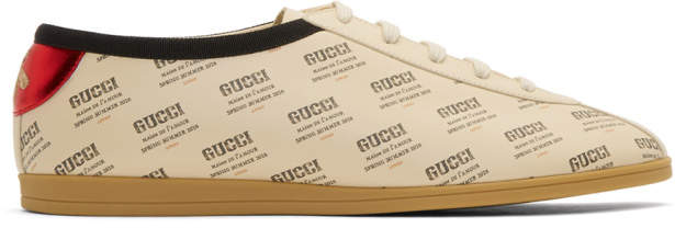 Gucci Off-White All Over Stamp Print Falacer Sneakers