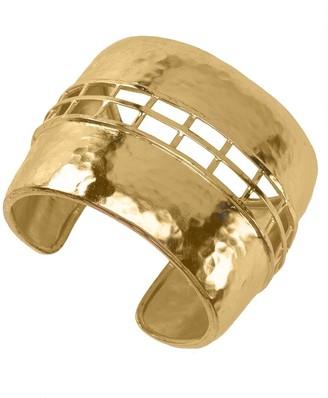 Natori Gold Brass Cage Bracelet