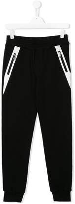 Neil Barrett Kids zip detail track pants