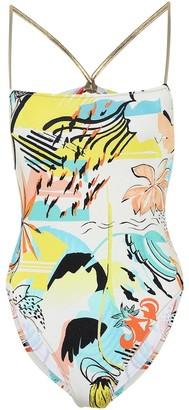Reina Olga Chloe printed swimsuit