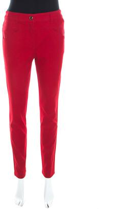 Escada Garnet Red Stretch Denim Teresa Straight Leg Jeans M