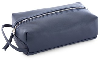 Royce New York Compact Leather Toiletry Bag