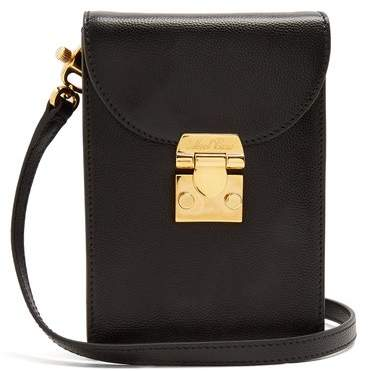 Mark Cross - Josephine Small Pebble Leather Cross Body Bag - Womens - Black