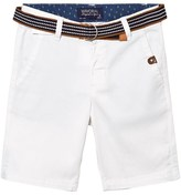Mayoral White Superfine Cord Shorts with Belt