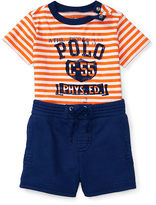 Ralph Lauren Boy Graphic Tee & Short Set