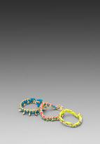Ettika Gold Spiked Wrap Bracelet