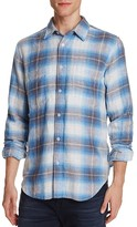 7 For All Mankind Plaid Flannel Regular Fit Button-Down Shirt