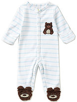 Starting Out Baby Boys Newborn-6 Months Striped Teddy Bear Coverall
