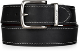 Tommy Hilfiger Black & Brown Contrast-Stitch Reversible Leather Belt