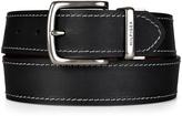 Tommy Hilfiger Black & Brown Contrast-Stitch Reversible Leather Belt