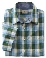 L.L. Bean Bean's Madras Shirt, Slightly Fitted Short-Sleeve