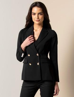 Forever New Crystal Petite Crepe Suit Jacket - Black - 10