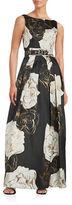 Eliza J Rose Printed Sleeveless Gown