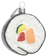 Nordstrom Sushi Roll Glass Ornament
