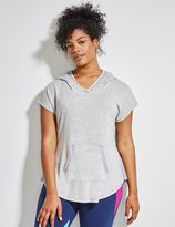 Lane Bryant Spa Short-Sleeve Active Hoodie with Mesh