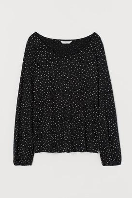 H&M MAMA Long-sleeved Nursing Top - Black