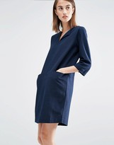 Selected Relaxed Dress with Pockets