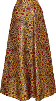 Alice + Olivia Terilyn metallic brocade maxi skirt