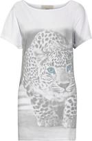 Stella McCartney Printed cotton and silk-blend T-shirt