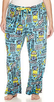 Asstd National Brand Illumination Minions Fleece Pajama Pants-Juniors Plus