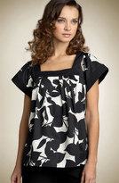 'Leaf It Out' Square Neck Top