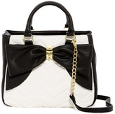 Betsey Johnson Bow Dome Tote & Pouch Set
