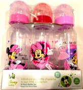 Disney Baby 3-pack 9oz Bottle Set Pink Minnie Mouse BPA Free 0+ Months Medium Flow by Minnie Mouse