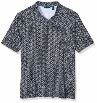 Perry Ellis Men's Big Pima Cotton Print Short Sleeve Polo Shirt