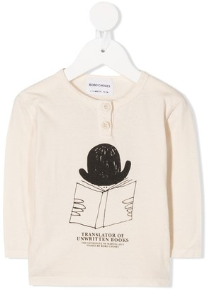 Bobo Choses Translator buttoned long-sleeved top