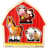 Melissa & Doug Kids Toy, Barnyard Animals Jumbo Knob Puzzle