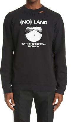 Raf Simons Ripped Crewneck Sweatshirt